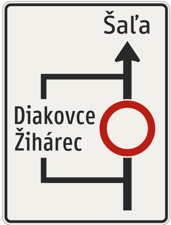 Značky o náhradných a obchádzkových trasách